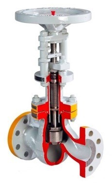 HF alkylation globe valves