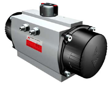 Pneumatic quarter turn rack-pinion actuators